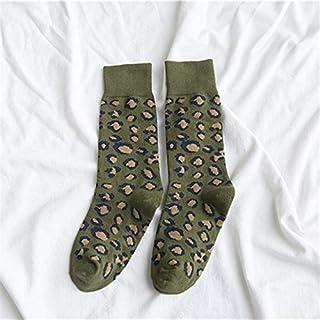 Calcetín de algodón para Mujer Mujeres Calcetines 1 Par Larga de algodón Calcetines de Color Impresa Mujer señora Calcetines