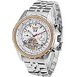 Jaragar Herren-Armbanduhr, großes Zifferblatt, drei Zifferblätter, Kalender, Edelstahl, Tourbillon-Armbanduhr, automatische mechanische Uhren für Männer von Hodinky