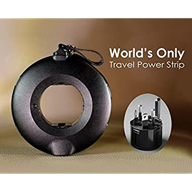 MOGICS Donut-Travel Power Strip- Black