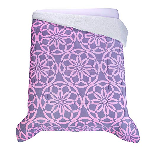 Colchas Concord Rossett Cobertor Borrega Rossett Matrimonial, color Rosa, , pack of/paquete de 1