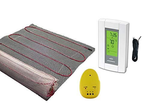 15 Sqft Mat, Electric Radiant Floor Heat Heating System with Aube Digital Floor Sensing Thermostat