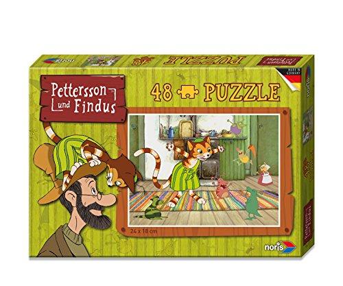 noris 606031342 - Pettersson Findus Mucklas Puzzle, 48-teilig