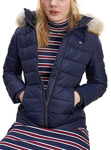 Tommy Jeans TJW Essential Hooded Jacket Chaqueta, Azul Marino (Twilight Navy), XL para Mujer