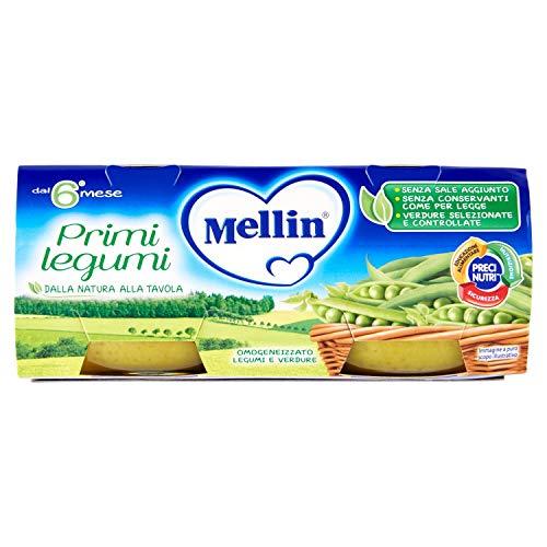 Mellin Omogeneizzato Primi Legumi, 24 Vasetti da 80 gr