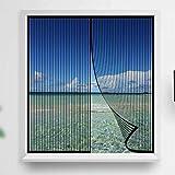 YIFANDU Mosquitera Ventana Magnetica 75x145cm Duradera Cortina Protección contra Insectos Dejar Pasar el Aire Fresco para Puertas y Ventanas, Negro