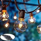 Joomer Catena Luminosa Lampadine da Esterno Interno, 25 G40 Stringa Luci Catene Luminose LED e 2 Lampadine a Ricambio Decorative Catene Luminose per Giardino Gazebo Natale Terrazzo Matrimonio Partito
