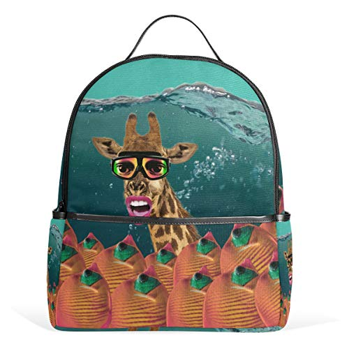 Orediy Giraffe in waterrugzakken, schoolboekentas, casual reisrugzak voor jongens en meisjes
