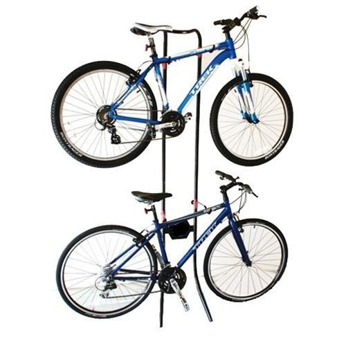 Gravity Bicycle Rack Storage Stand Bike Cycle Holds 2X Bikes Adjustable