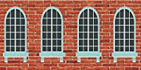 GladsBuyウィンドウ壁レンガ壁テーマ20' x 10'コンピュータ印刷写真バックドロップ背景acp-506