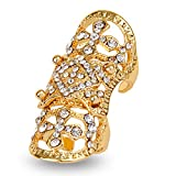 EVBEA Statement Full Finger Rings Fashion Knuckle Rings for Women(Yellow)