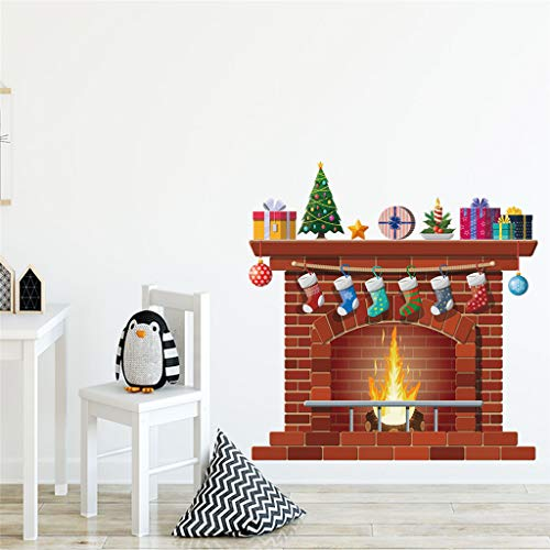 Pegatinas Pared Infantil - Vinilo Decorativo Chimenea