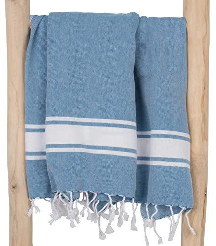 ZusenZomer Fouta, Toalla de Hammam XL Sol, diseño Exclusivo 100 x 200 cm, 100% algodón Toalla Ligera, Ideal para La Playa, Piscina, Baño Turco o la Sauna (Petrol)