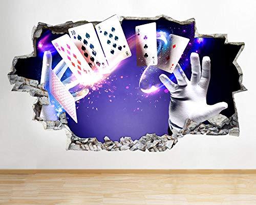 Wandtattoo Poster Tapeten Magic Card Trick Magier zerschlagen Wandaufkleber Kinderzimmer 3D Vinyl-50x70cm