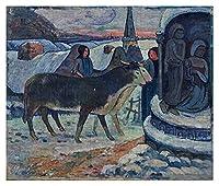Zay Luay 大人 - ポール・ガウジン - クリスマスの夜の油絵ジグソーパズルパズルアートワーク - 壁の研究寝室装飾額縁誕生日プレゼント、面白い挑戦的なパズル バレンタイン・デー (Size : 300pcs/15.7x11'')