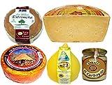 Lote de Quesos Surtidos, Puro de Oveja, Torta del Casar, Puro de Cabra, Tetilla y Crema de Cabrales.