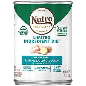 NUTRO Limited Ingredient Diet Adult Natural Wet Dog Food, 12.5oz Can (12 Pack)