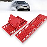 VaygWay Car Snow Traction Mat – All Weather Foldable Tire Grip – Emergency Off Road Traction Tool – Auto Escape Mat 2 Pk – Works for Snow Ice Mud Sand