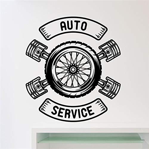 58x65cm, pegatinas de pared, arte de tatuajes de pared, reparación de automóviles, servicio de automóviles, taller de automóviles, garaje, llave, habitación, mural interior, niños, cocina, fondo,