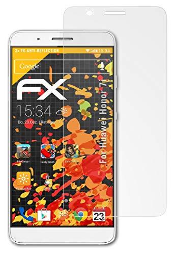 atFolix Panzerfolie kompatibel mit Huawei Honor 7i / ShotX Schutzfolie, entspiegelnde & stoßdämpfende FX Folie (3X)