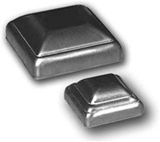 Bobco Metals Decorative Durable Heavy Duty Square Pressed Steel Caps 2