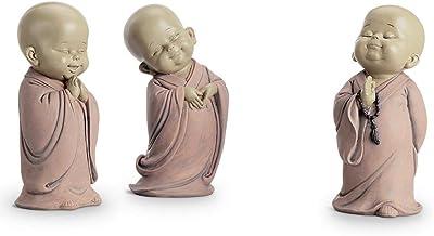 Standing Buddhist Monks Set of 3