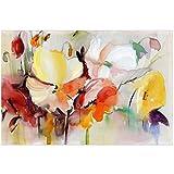 ZHANGPENGBOFBH Pintura sobre Lienzo Acuarela Abstracta Flor óleo Arte de Pared Moderno Cuadro de Flores para Sala decoración de póster de Pared 50x70 cm (19.7'x27.6) con Marco