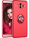 Huawei Mate 10 Pro Hülle Huawei Mate 10 lite Schutzhülle, 360 Grad Drehbar Ringhalter Handytasche Dünn Weich Stoßfest Anti-Kratzer Huawei Mate 10 Handyhülle (Rot, Huawei Mate 10 Pro)