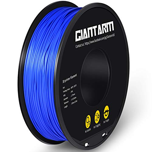 GIANTARM Filament PLA 1,75 mm, 3D-Drucker PLA Filament 1,75 mm 1 kg Spule, Blau