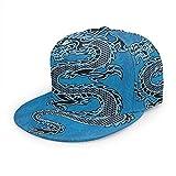 Gorra de béisbol Dragón Chino Estilo Chino Pintura Unisex 3D Hip Hop Snapback Sombrero de ala Plana Gorras de béisbol Negro