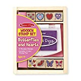 Melissa & Doug | Butterfly and Hearts Stamp Set | Arts & Crafts | Stamp Sets & Stencils | 3+ | Gift for Boy or Girl