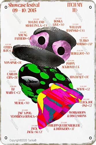 Showcase Festival 09-10/2015 Itchmyh Vintage Look 20 x 30 cm Estaño Decoración Cartel Cartel para Hogar Cocina Baño Granja Jardín Garaje Citas Inspiradoras Decoración de Pared