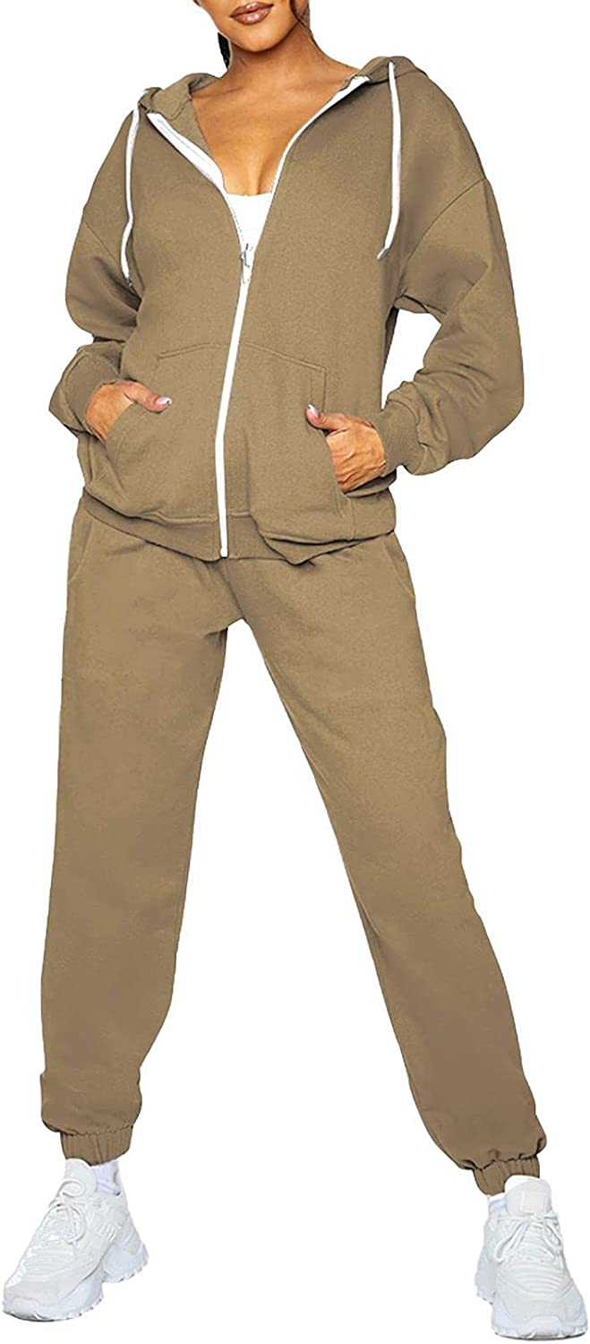 Fixmatti Womens Tracksuit Zip Up Hoodie Sweatsuits w Jogger Max Dealing full price reduction 48% OFF Sets