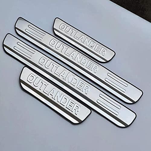 4Pcs Auto Edelstahl Einstiegsleisten Türschweller für Mitsubishi Outlander 2013-2021, Rutschfestes Anti-Kratz Protector