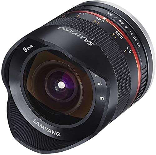 Samyang 8/2,8 Objektiv Fisheye II APS-C Canon M manueller Fokus Fotoobjektiv, Superweitwinkelobjektiv schwarz