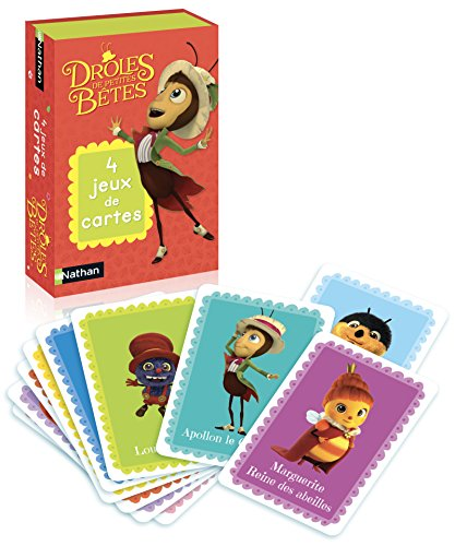 Nathan - 31206 - 4 jeux de cartes Drôles de petites bêtes