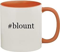 #blount - 11oz Hashtag Ceramic Colored Inside & Handle Coffee Mug, Orange
