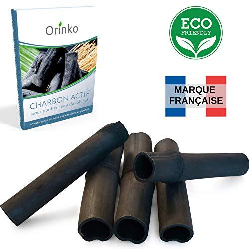 orinko Binchotan Bio 5X   Charbon Actif Binchotan de Bambou pour Purification d'eau en Carafe + E-Book   Passez-Vous des Eaux en Bouteille Grâce à Notre Charbon Actif