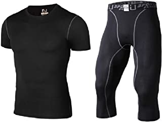 RkYAO Men's with Stretch Fast Dry Athletic Bodycon Compression Activewear