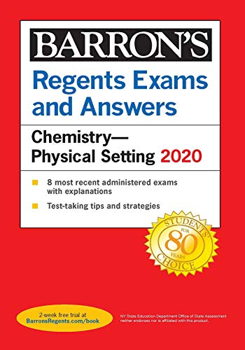 Regents Exams and Answers: Chemistry--Physical Setting 2020 (Barron's Regents NY)