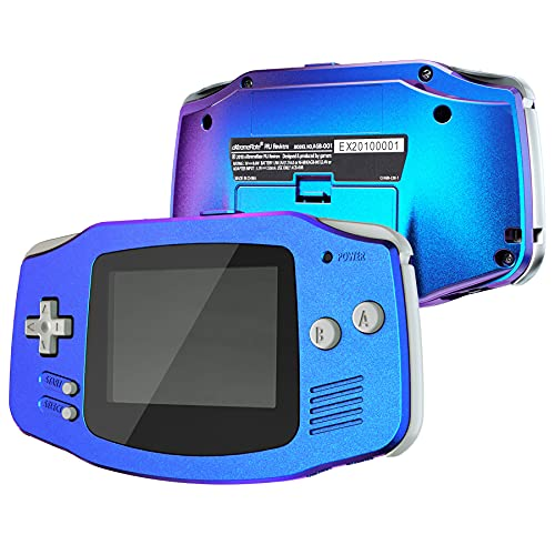 IPS Ready Upgraded eXtremeRate Carcasa para Gameboy Advance Funda Protector Placa Cubierta Shell con Botones para GBA-Compatible con IPS & LCD Estándar-NO Incluye Consola&Pantalla IPS(Azul a Violeta)