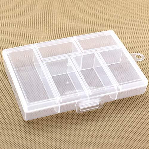 3/x 6/compartimentos Caja con compartimentos y asa joyas caja tornillos perlas tuercas y todo tipo de piezas peque/ñas para cuentas tama/ño 15,5/x 15,5/x 13,0/cm Medicamentos