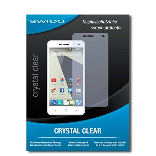 SWIDO Bildschirmschutz für ZTE Blade L3 [4 Stück] Kristall-Klar, Hoher Festigkeitgrad, Schutz vor Öl, Staub & Kratzer/Schutzfolie, Bildschirmschutzfolie, Panzerglas Folie