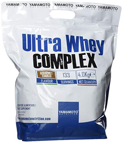 Yamamoto Nutrition Ultra Whey COMPLEX integratore alimentare per sportivi a base di proteine del siero di latte concentrate (Whey Concentrate) ed Isolate (Whey Isolate) gusto Cioccolato 4000 g