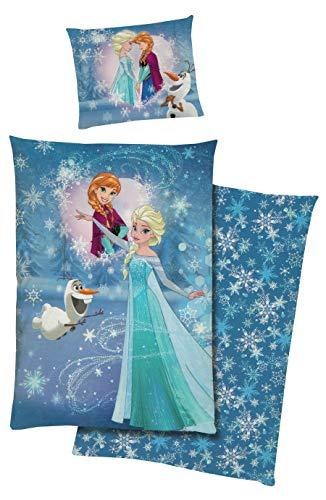 tex idea GmbH Disney Die Eiskönigin Frozen Bettwäsche Baumwolle Renforce 140x200 Anna ELSA Olaf 2369