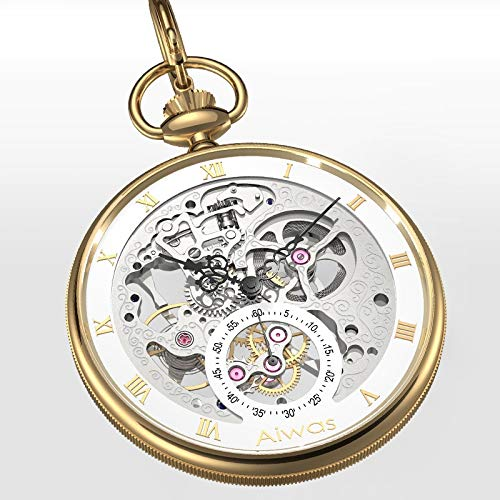 YYSD Retro 1963 Pilot Air Force One Military Pocket Watch Hollow Steel Classic Manual Movement Limited Edition Business Gift Watch steampunk buy now online