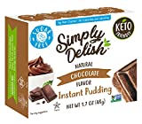 Simply Delish Natural Instant Chocolate Pudding - Sugar Free, Non GMO, Gluten Free, Fat Free, Vegan, Keto Friendly - 1.7 OZ (Pack - 3)