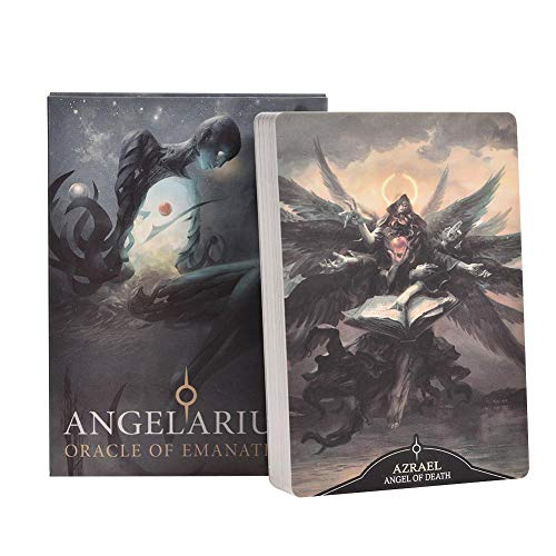 Creative Tarot Cards Durable Vivid Full English Version Angelarium Oracle Of Emanations Board Game Cards Family Holiday Party