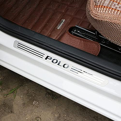 4 Piezas Coche ProteccióN Umbral Acero Inoxidable Decoración Estribos, para Volkswagen VW...