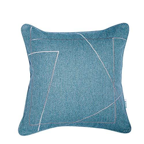 QXbecky Federa Moderna semplice luce di lusso in stile morbido panno quadrato federa (senza nucleo) camera da letto divano cuscino decorativo 45 cm