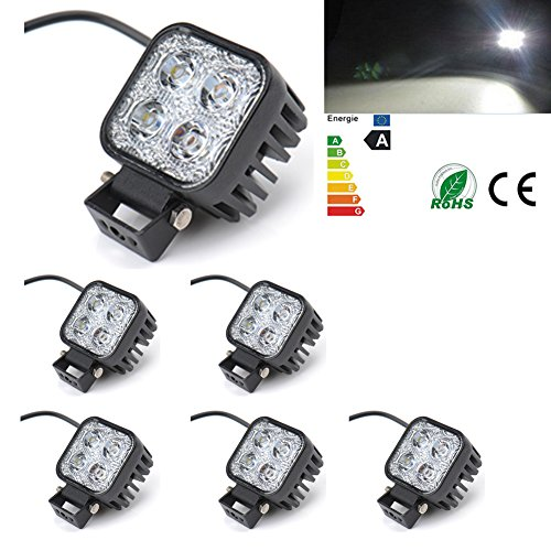 6x 12W LED punto trabajo Luz Camino de la Calle Introdujo Luz Bar Niebla CONDUCCIÓN Bar Jeep lámpara 12V/24V